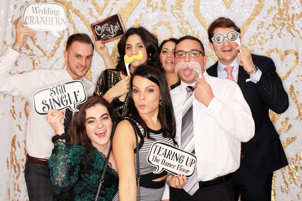 Milestone Photo Booth Rental NJ Matt and Mia Carat Mermaid Open Air Backdrop Event Candid Group Picture New Jersey New York Pennsylvania