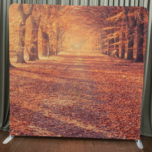 Milestone Photo Booth Rental NJ Autumn Road Backdrop Open Air Special Event Keyport New Jersey New York Pennsylvania