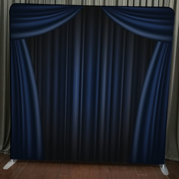 Milestone Photo Booth Rental NJ Blue Curtain Backdrop Open Air Special Event Keyport New Jersey New York Pennsylvania