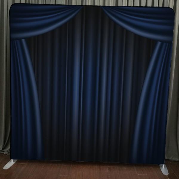 Milestone Photo Booth Rental NJ Blue Curtain Backdrop Open Air Special Event Keyport New Jersey New York Pennsylvania