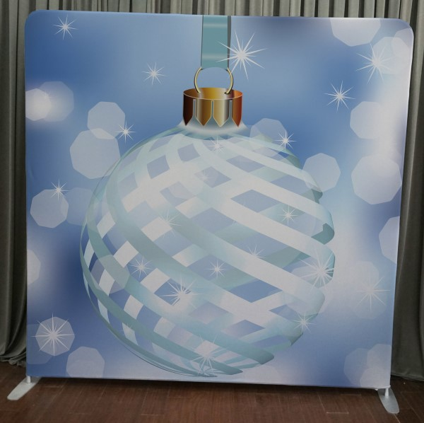 Milestone Photo Booth Rental NJ Christmas Holiday Ornament Backdrop Open Air Special Event Keyport New Jersey New York Pennsylvania