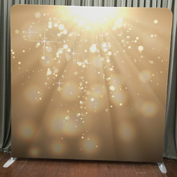 Milestone Photo Booth Rental NJ Gold Light Bokeh Backdrop Open Air Special Event Keyport New Jersey New York Pennsylvania