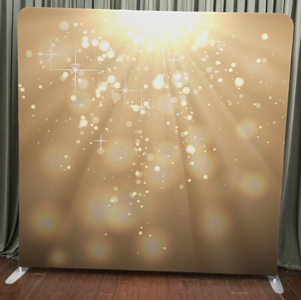 Milestone Photo Booth Rental NJ Gold Light Bokeh Backdrop Open Air Special Event Keyport New Jersey New York Pennsylvania