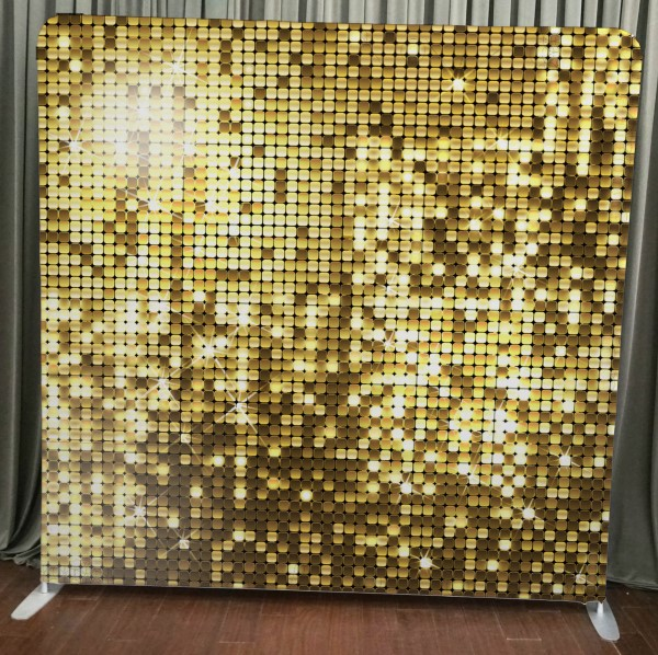 Milestone Photo Booth Rental NJ Gold Sequin Backdrop Open Air Special Event Keyport New Jersey New York Pennsylvania