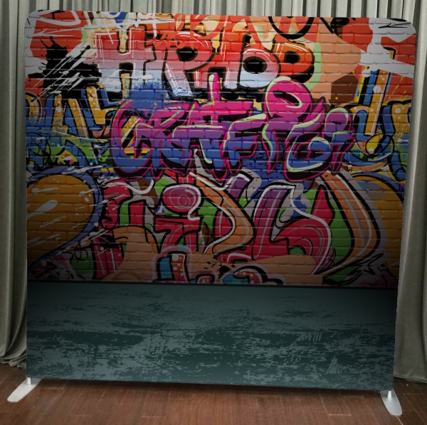 Milestone Photo Booth Rental NJ Graffiti Wall Backdrop Open Air Special Event Keyport New Jersey New York Pennsylvania