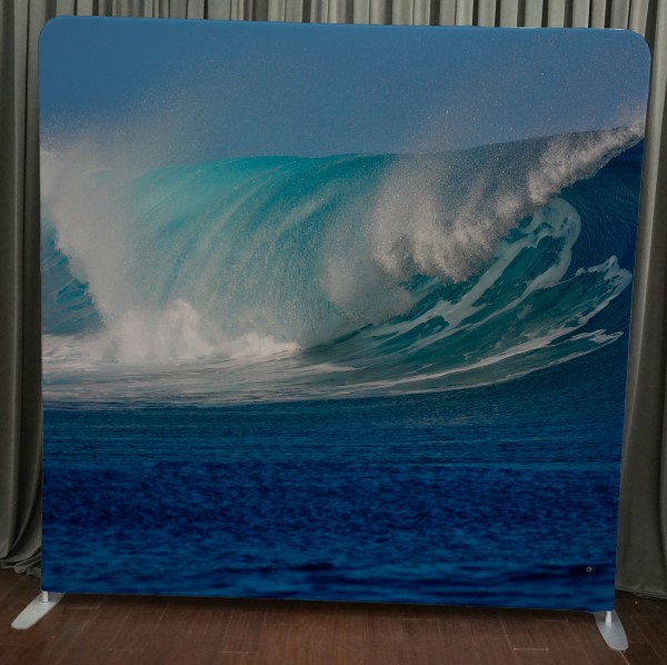 Milestone Photo Booth Rental NJ Ocean Wave Backdrop Open Air Special Event Keyport New Jersey New York Pennsylvania
