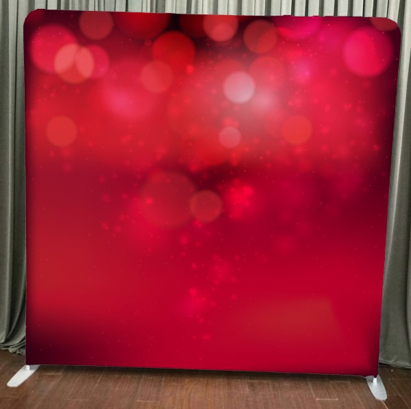 Milestone Photo Booth Rental NJ Red Bokeh Backdrop Open Air Special Event Keyport New Jersey New York Pennsylvania