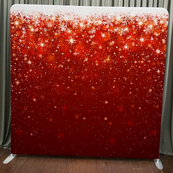 Milestone Photo Booth Rental NJ Red Star Ornament Holiday Bokeh Backdrop Open Air Special Event Keyport New Jersey New York Pennsylvania