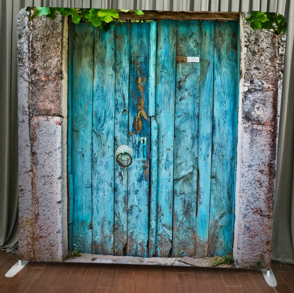 Milestone Photo Booth Rental NJ Rustic Doors Backdrop Open Air Special Event Keyport New Jersey New York Pennsylvania