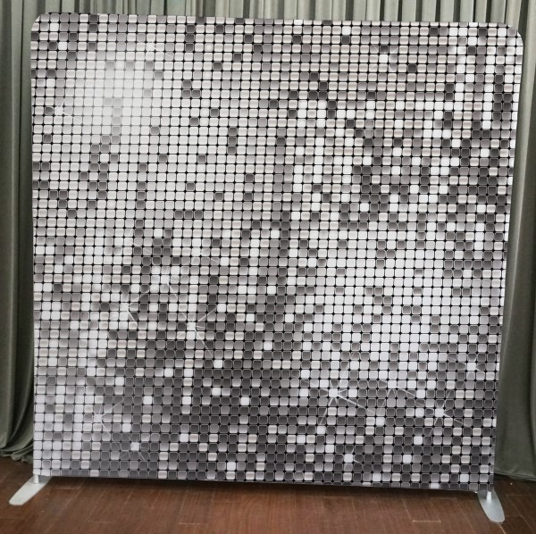 Milestone Photo Booth Rental NJ Silver Sequin Backdrop Open Air Special Event Keyport New Jersey New York Pennsylvania