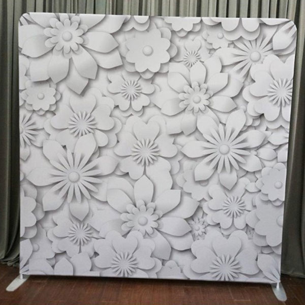 Milestone Photo Booth Rental NJ White Flower Backdrop Open Air Special Event Keyport New Jersey New York Pennsylvania