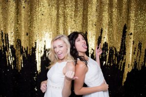 Milestone Photo Booth Rental NJ Black Gold Colored Mermaid Reversible Sequin Backdrop Open Air Special Event Keyport New Jersey New York Pennsylvania
