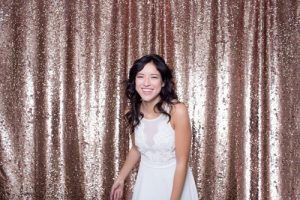 Milestone Photo Booth Rental NJ Bubbly Champagne Pink Red Reversible Sequin Colored Mermaid Backdrop Open Air Special Event Keyport New Jersey New York Pennsylvania