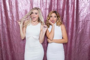 Milestone Photo Booth Rental NJ Full Light Pink Matte White Colored Fairytale Mermaid Reversible Sequin Backdrop Open Air Special Event Keyport New Jersey New York Pennsylvania