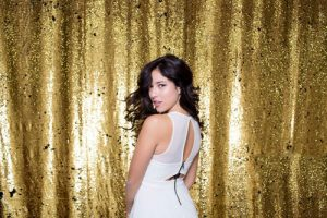 Milestone Photo Booth Rental NJ Gold Colored Mermaid Reversible Sequin Backdrop Open Air Special Event Keyport New Jersey New York Pennsylvania