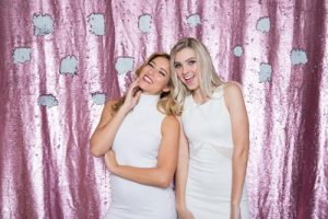 Milestone Photo Booth Rental NJ Light Pink Matte White Colored Fairytale Mermaid Reverisble Sequin Backdrop Open Air Special Event Keyport New Jersey New York Pennsylvania