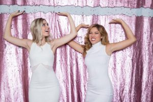Milestone Photo Booth Rental NJ Light Pink Matte White Colored Fairytale Mermaid Reversible Sequin Crushing Bar Backdrop Open Air Special Event Keyport New Jersey New York Pennsylvania