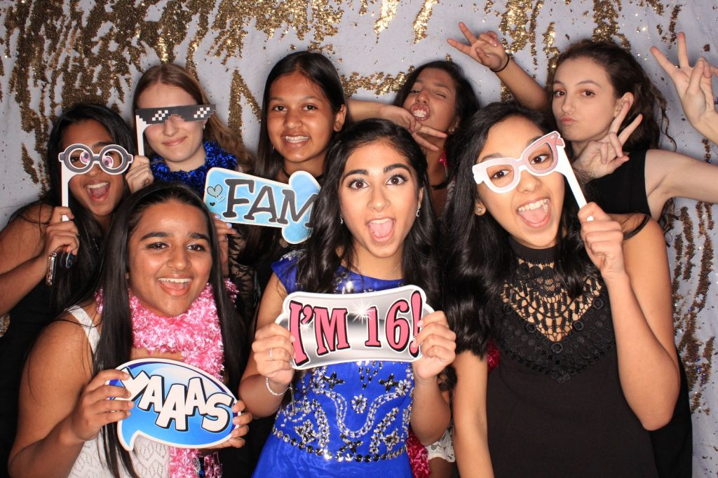 Milestone Photo Booth Rental NJ Carat Mermaid Backdrop Sweet 16 Special Event New Jersey New York Pennsylvania