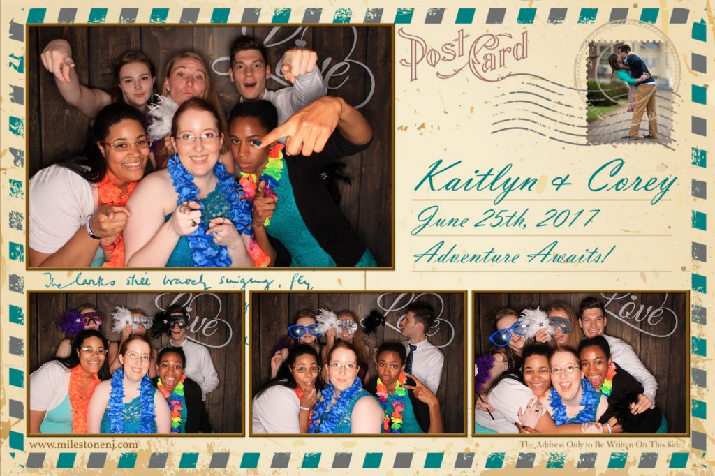 Milestone Photo Booth Rental NJ Wedding Dark Wood with Love Backdrop Open Air Special Event New Jersey New York Pennsylvania