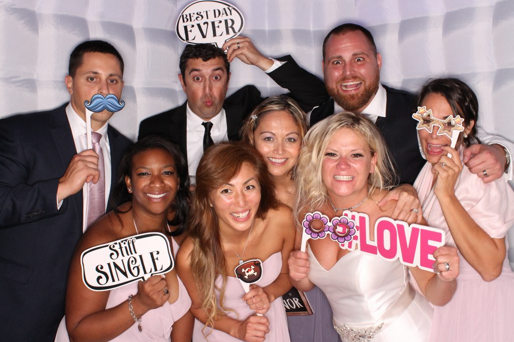 Milestone Photo Booths NJ Wedding Octagon Enclosed Special Event New Jersey New York Pennsylvania