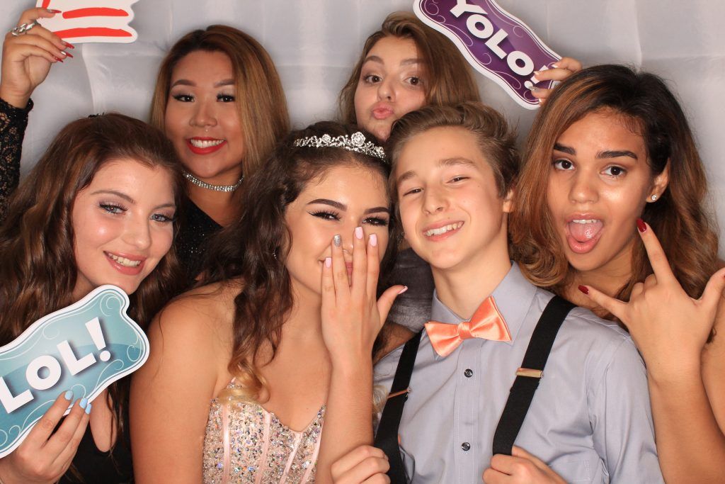 Milestone Photo Booth Rental NJ White Octagon Enclosed Quinceanera Special Event New Jersey New York Pennsylvania