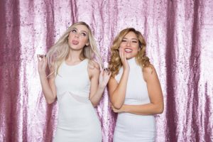 Milestone Photo Booth Rental NJ Light Pink Matte White Colored Fairytale Mermaid Reversible Sequin Backdrop Open Air Special Event Keyport New Jersey New York Pennsylvania