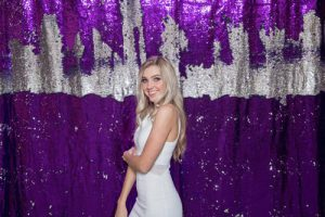 Milestone Photo Booth Rental NJ Mostly Reflective Purple Colored Mermaid Reversible Amethyst Sequin Backdrop Open Air Special Event Keyport New Jersey New York Pennsylvania
