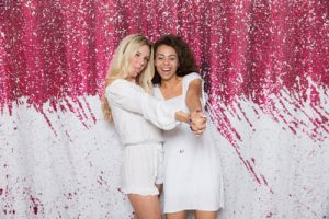 pink-white-reversible-sequin-colored-half-paradise-mermaid-backdrop-open-air-special-event-photo-booth-rental-milestone-nj-blonde-brunette-models