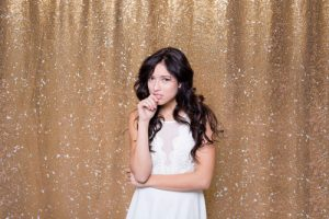 Milestone Photo Booth Rental NJ Gold Carat Colored Mermaid Sequin Backdrop Open Air Special Event Keyport New Jersey New York Pennsylvania